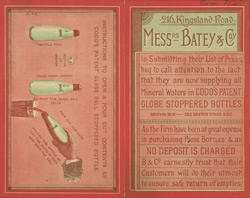 Advert For Messers Batey & Co., Bottled Water